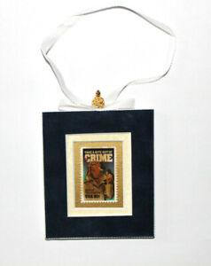 McGruff-Crime-Dog-Hand-Crafted-Velvet-Framed-USA-Stamp-Christmas-Tree-Ornament