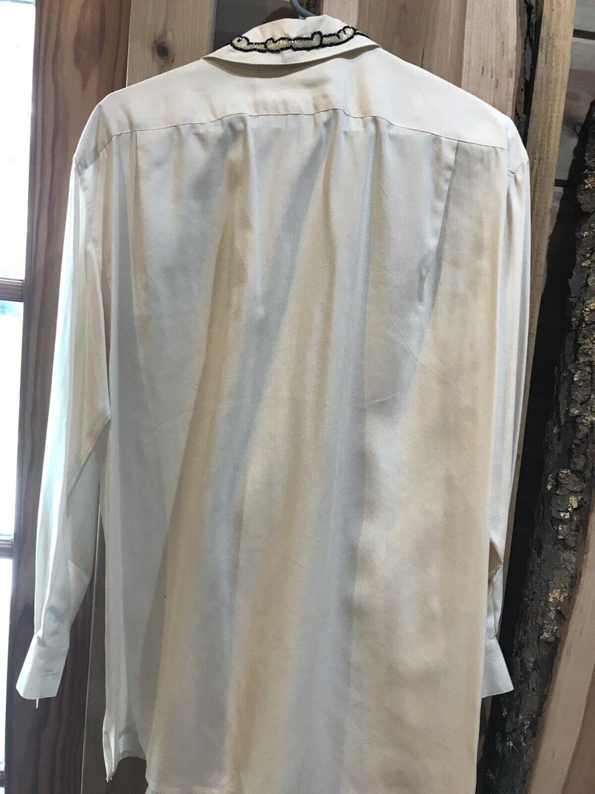 CE N'EST PAS UNCHAPEAU Women's Off White Blouse B… - image 10