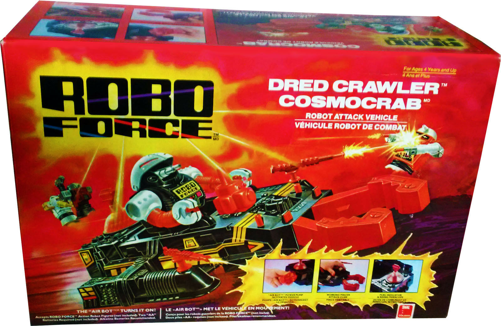 Fuerza de robo Drojo Crawler, Vintage 1983, Coleccionable, nuevo sin usar y en caja sellada Menta en Caja Sellada