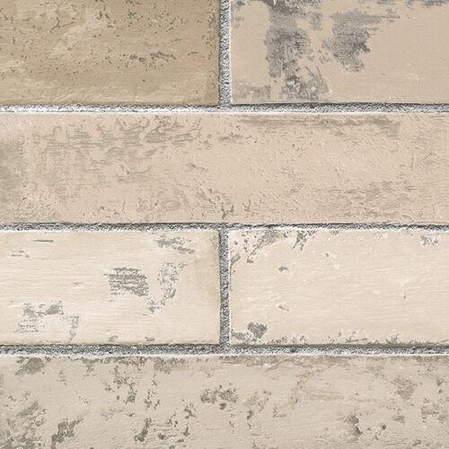 Brick WallpaperLight Textured Grey Grout Stone Wall WallpaperPrepasted