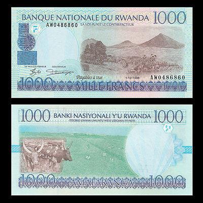 Rwanda 1000 Francs 1998 UNC P-27