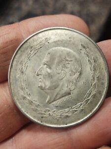 1952-Mexico-5-Pesos-LARGE-40mm-SILVER-Coin-Hidalgo-3