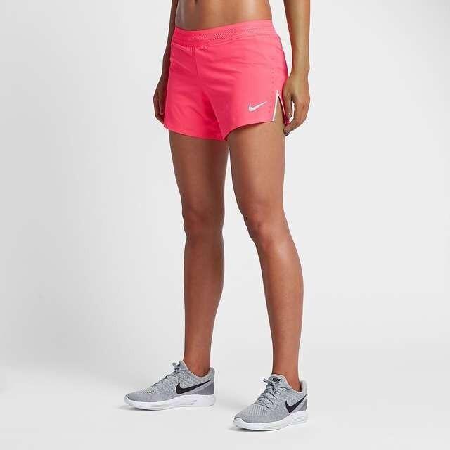 "Ladies NIKE AEROSWIFT 4"" Racer Running Shorts Dri Fit Size Medium 898270-617"