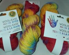 Lion BRAND Wool-ease Hand Dyed Acrylic Wool Tie Dye Medium 100g Yarn 623200