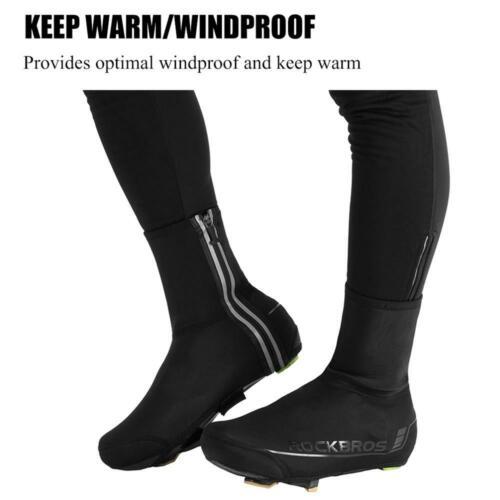 ROCKBROS Cycling Overshoes MTB Road Bike Shoe Cover Windproof Winter Keep Warm