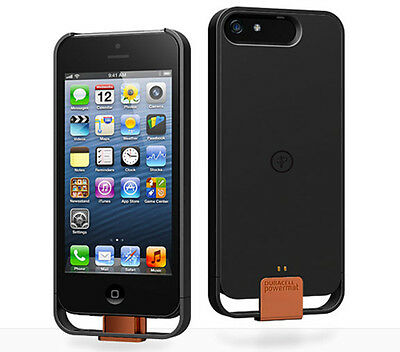 Duracell Powermat Wireless Charging Black Case for iPHONE 5,5s