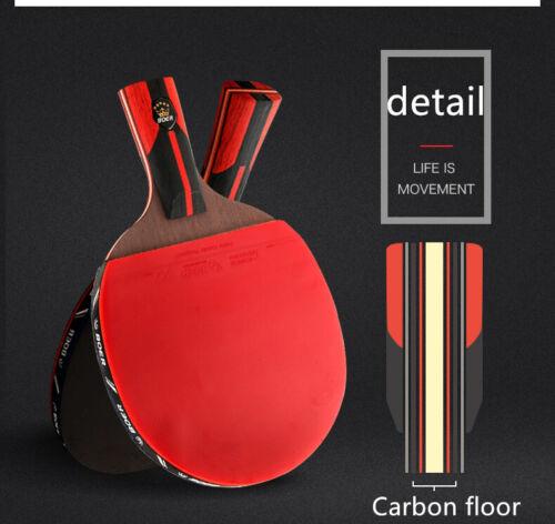 Stiga Pro Carbon Premium Ping Pong Table Tennis Paddle Racket Titan Tournament