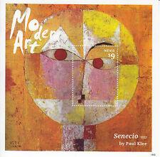 Nevis 2014 MNH Modern Art 1v S/S II Paul Klee Senecio Paintings Stamps