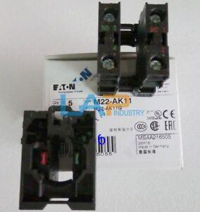 Details about 2PCS For EATON MOELLER Contact Block 1NO 1NC Screw terminal  M22-AK11 #ZMI