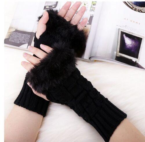 Fingerless Fluffy Fur Gloves