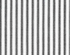 Drapery Upholstery Fabric 100% Cotton Classic Ticking Stripe - Black / White