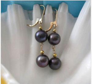 AAA-8-9mm-round-south-sea-black-pearl-dangle-earring-14K-yellow-gold