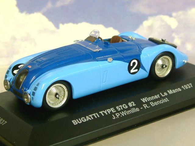 Bugatti Type 57g Tank 1st Le Mans 1937 Wimille Benoist Ixo Lm1937 1