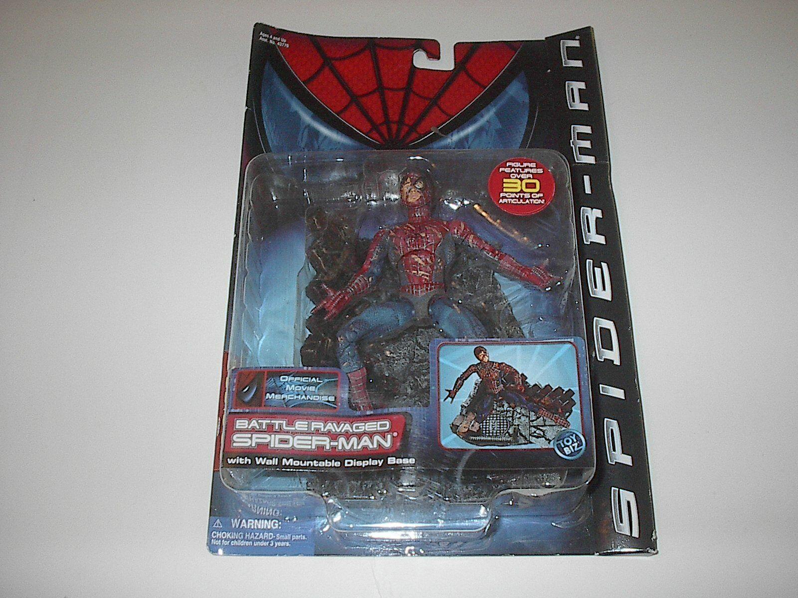 TOYBIZ MARVEL Spiderman Movie Battle ravagé série 3 2002 Nouveau