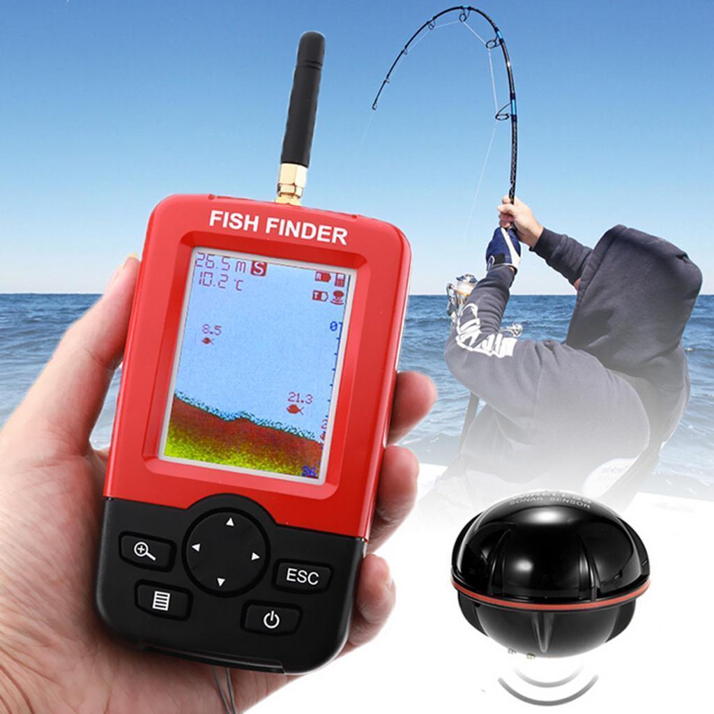 1x Poisson Pêche Détecteur Machine Sonar Capteur d'Echo Fish Finder Sondeur Pêche Poisson ebbeab