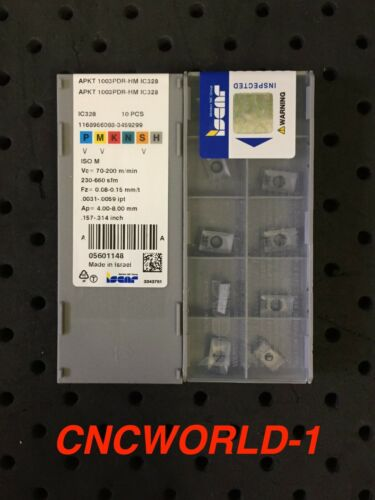 1 Box 10 Pcs Iscar APKT 1003PDR-HM IC328 Factory packaging Unopened !