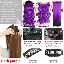 One Piece Full Head Clip in Thick New Hair Extensions Wavy Straight US STOCK B3