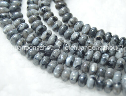 Indiano Naturale 5x8mm Nero Grigio LABRADORITE Gemme Stinco Loose Beads 15 pollici