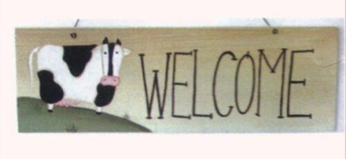 """COW PIG ROOSTER Cabin Lodge Sign Primitive Country Farm Ornament 5 X 2.5/"""" Sign"""