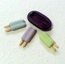Silicone Mold Miniature Popsicle (25mm) Dollhouse Fake Food Polymer Clay Jewelry
