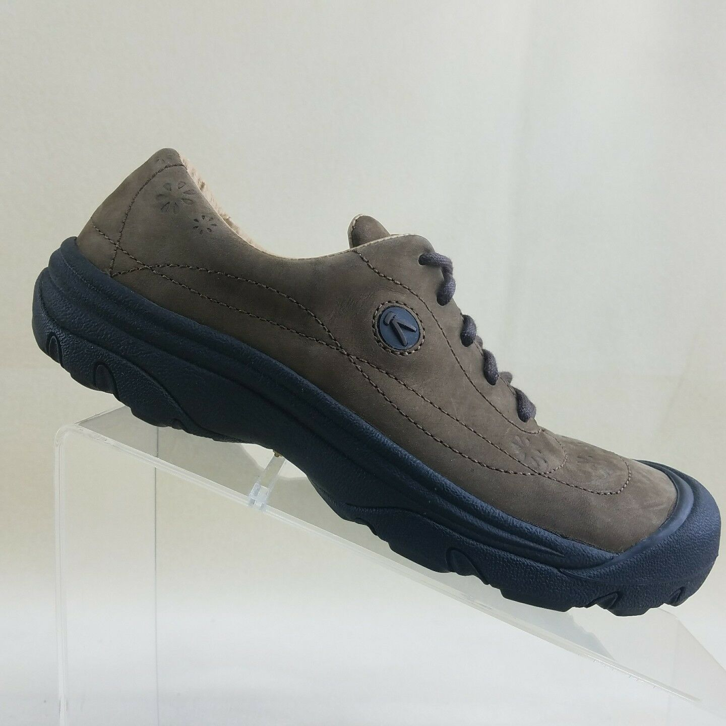 Keen Womens Lace Up Hiking Walking Sport shoes Sneaker Brown Suede Size 7  G67