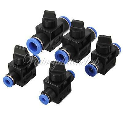 Pneumatic Ball Valve Push In Fittings Connectors for Air/Water Hose Tube 4-12mm