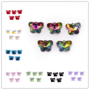 Hot-10Pcs-14mm-Butterfly-Faceted-Crystal-Glass-Pendant-Spacer-DIY-Beads-Bracelet