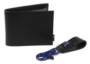 Tommy-Hilfiger-Men-039-s-Premium-Leather-Slim-Passcase-Wallet-amp-Key-Fob-Box-Set-Gift