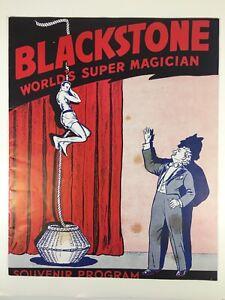 Vtg-40s-50s-Harry-Blackstone-Sr-World-Super-Magician-Souvenir-Program-Illustrate