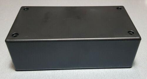 UB3 ABS Black Jiffy Box 130x67x43mm