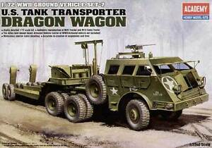 U-S-TANK-TRANSPORTER-DRAGON-WAGON-ACADEMY-PLASTIC-KIT-1-72