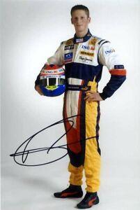 Romain Grosjean Renault F1 Portrait 2008 Signed Photograph 1