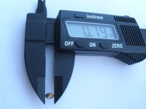 40 Brass Bullseye collars//washers//pins to repair old straight razors Wade
