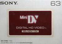Cassette Mini H Dv Sony 63 Neuf K7 Neuve Stock France
