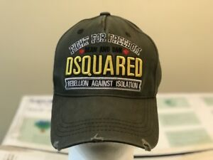 9a9edca31e3 Image is loading Dsquared-distressed-Khaki-Green-Baseball-Cap-034-Killer-
