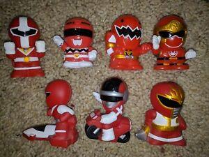 Super Sentai Red Ranger Figure Lot Mask Abare Ryu Hurrican Ginga One Five