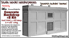 Concrete Backdrop Kit #2 Scale Model Masterpieces/YORKE Ent HOn3 Fine Craftsman