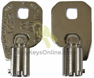 6032-Key-Chicago-Lock-ACE-Tubular-Barrel-NEW-PRECUT-FACTORY-CUT-SHIPS-FAST