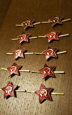 Russian Soviet Star Hat Badge Dealer Lot - 10 Badges!! Lowest price on eBay!!
