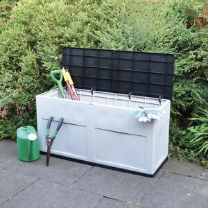 320l Large Outdoor Garden Storage Box Chest Cushion Equipment Lid