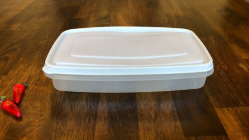 Details about  /Vintage Rubbermaid Servin/' Saver 4 Cup #5 Rectangle Container with White Lid