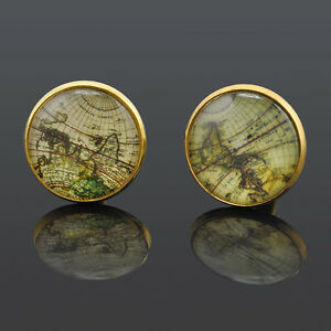 1 pair Celebrate gift New Cufflinks Gold plated Old Cuff links for men
