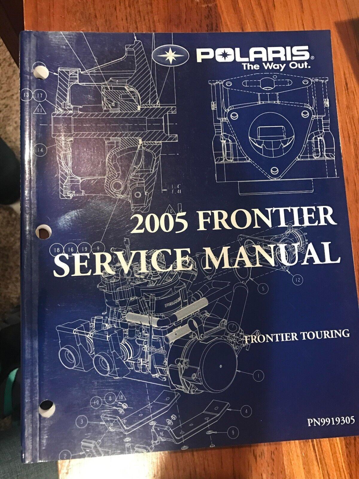 2005 Polaris  Frontier touring Snowmobile Service Manual PN  9919305  official website