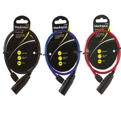Vélo Câble Antivol de vélo sécurité en acier solide 2 clés Cycle Chain Lock 6 mm 650 mm