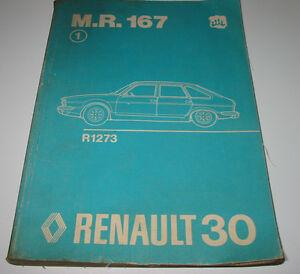 Sparen Sie 50-70% Automobilia Werkstatthandbuch Renault 30 R 1273 Motor Getriebe Elektrik Bremsen Achsen 1975