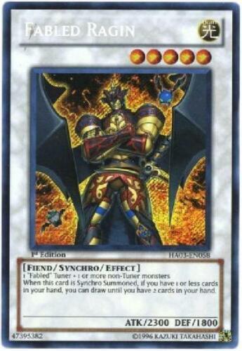 Secret Rare NM Hidden Arsenal 3 Yugioh HA03-EN058 Fabled Ragin