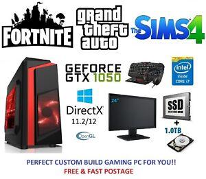 Paquete-De-Juegos-Pc-Computadora-rapido-monitor-Quad-Core-i7-16GB-120GB-SSD-1TB-GTX-1650