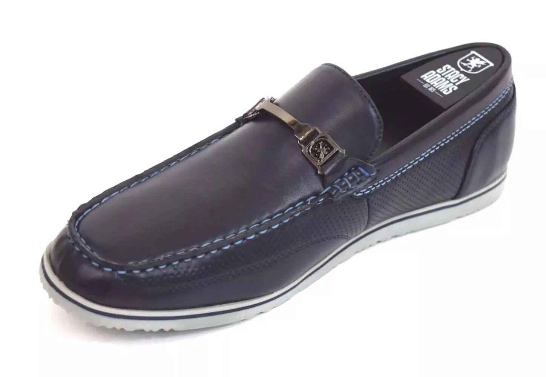 Men's Men's Men's Stacy Adams Casual shoes Navy bluee Moc Toe Bit Slip On Loafers CHAZ 25042 4bbe31