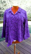 New HABITAT purple and black (blue violet) MEDIUM Jacket BLOUSE