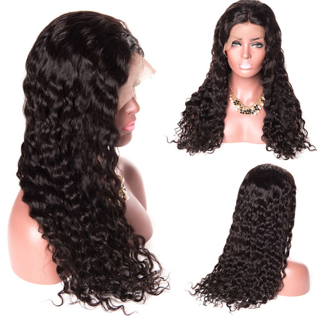 Pre Plucked 360 Lace Frontal Wigs Curly Brazilian Remy Hair Wig For Women  NEW~- 8b0c8f4dcb